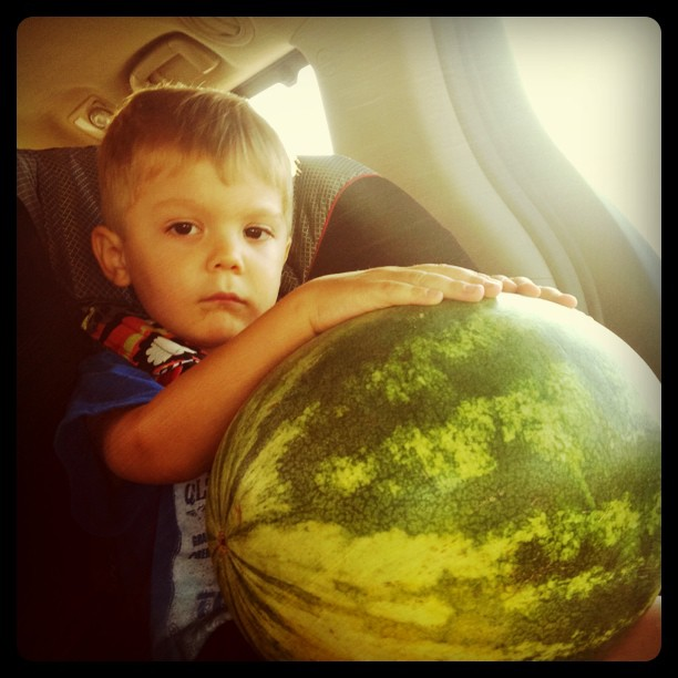 Ezra-carried-a-watermelon