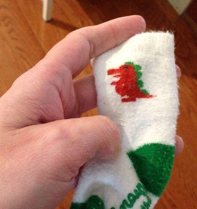 Dino sock