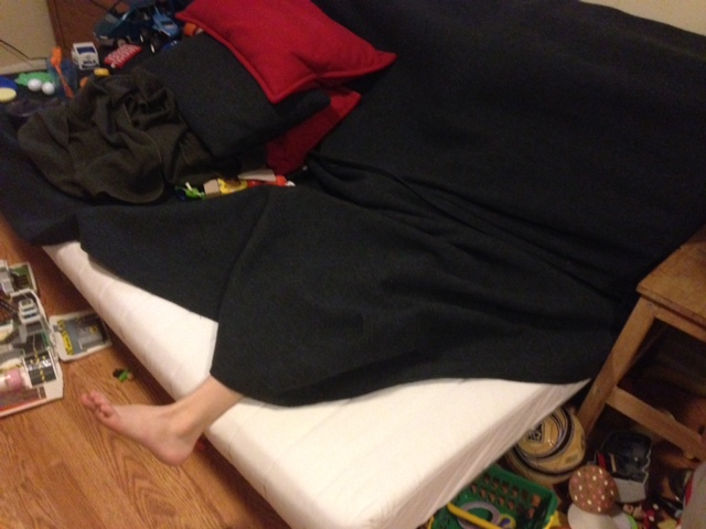 Noah hiding